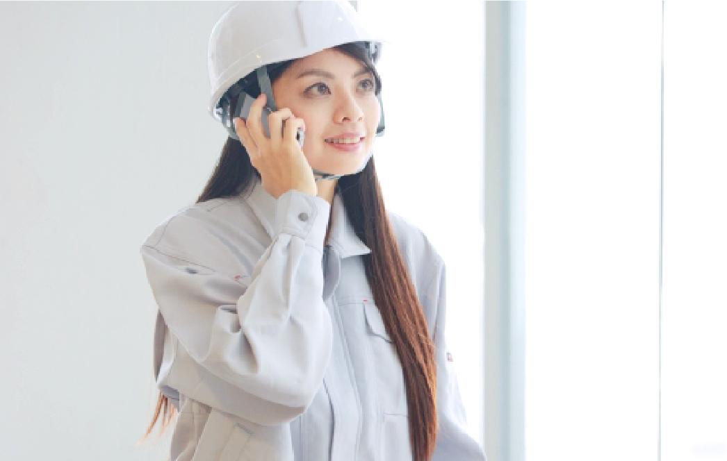 現場で働く女性社員を採用し男女関係なく働きやすい職場づくりを。